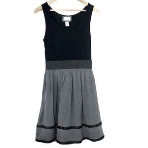 Emmelee for FC Black Grey Scoop Tank Dress Small
